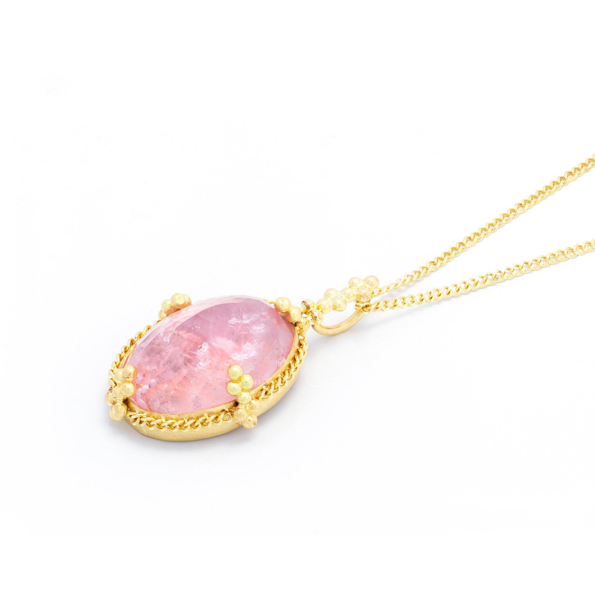 Amali Oval Morganite Pendant
