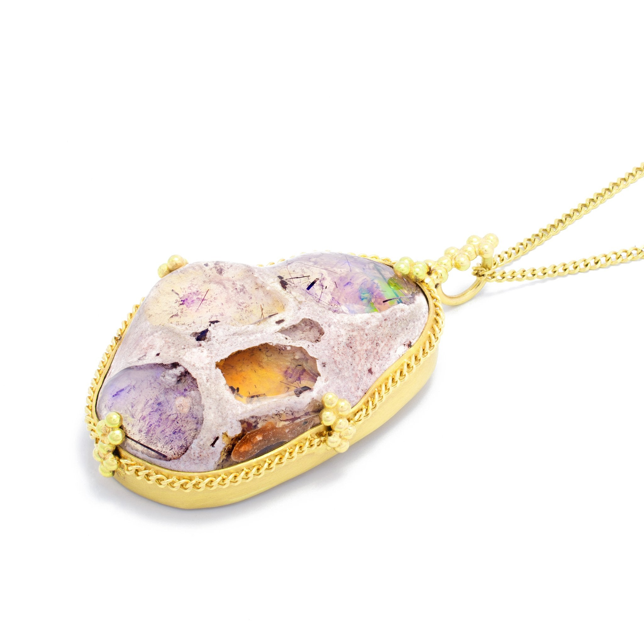 Amali Mexican Opal Lava Necklace