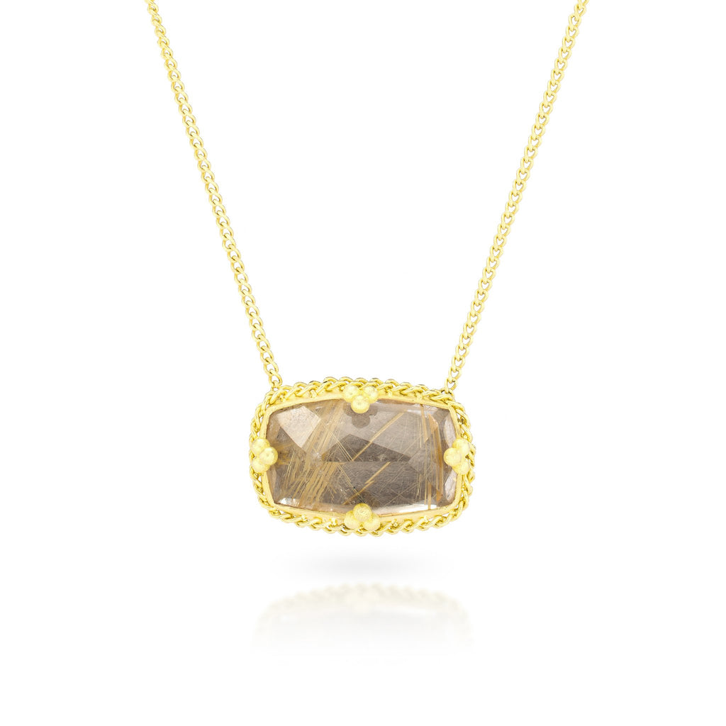 Amali-Rutilated Quartz Landscape Necklace