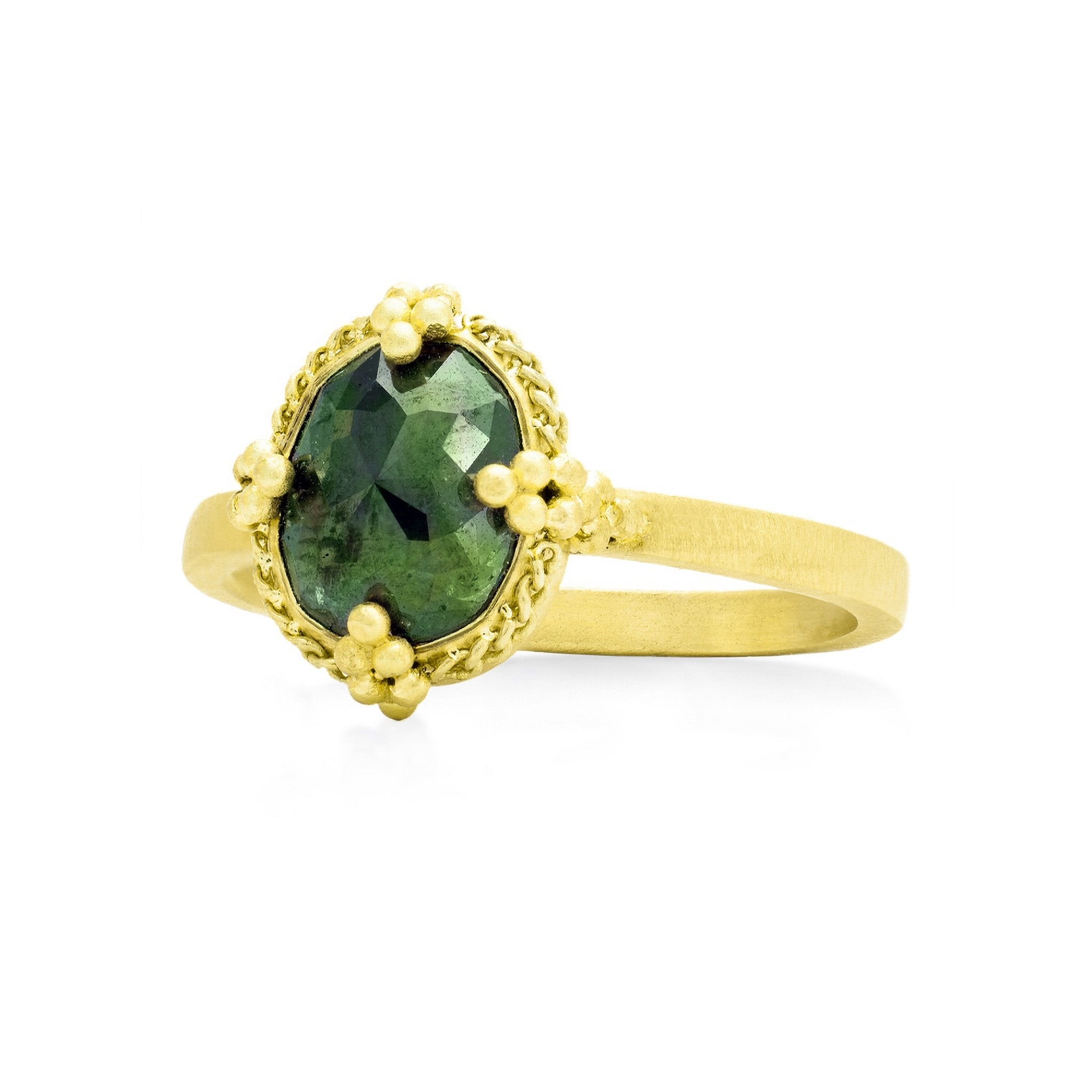 Amali-Green Diamond Ring