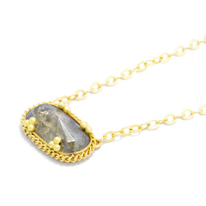 Amali Elongated Diamond Necklace