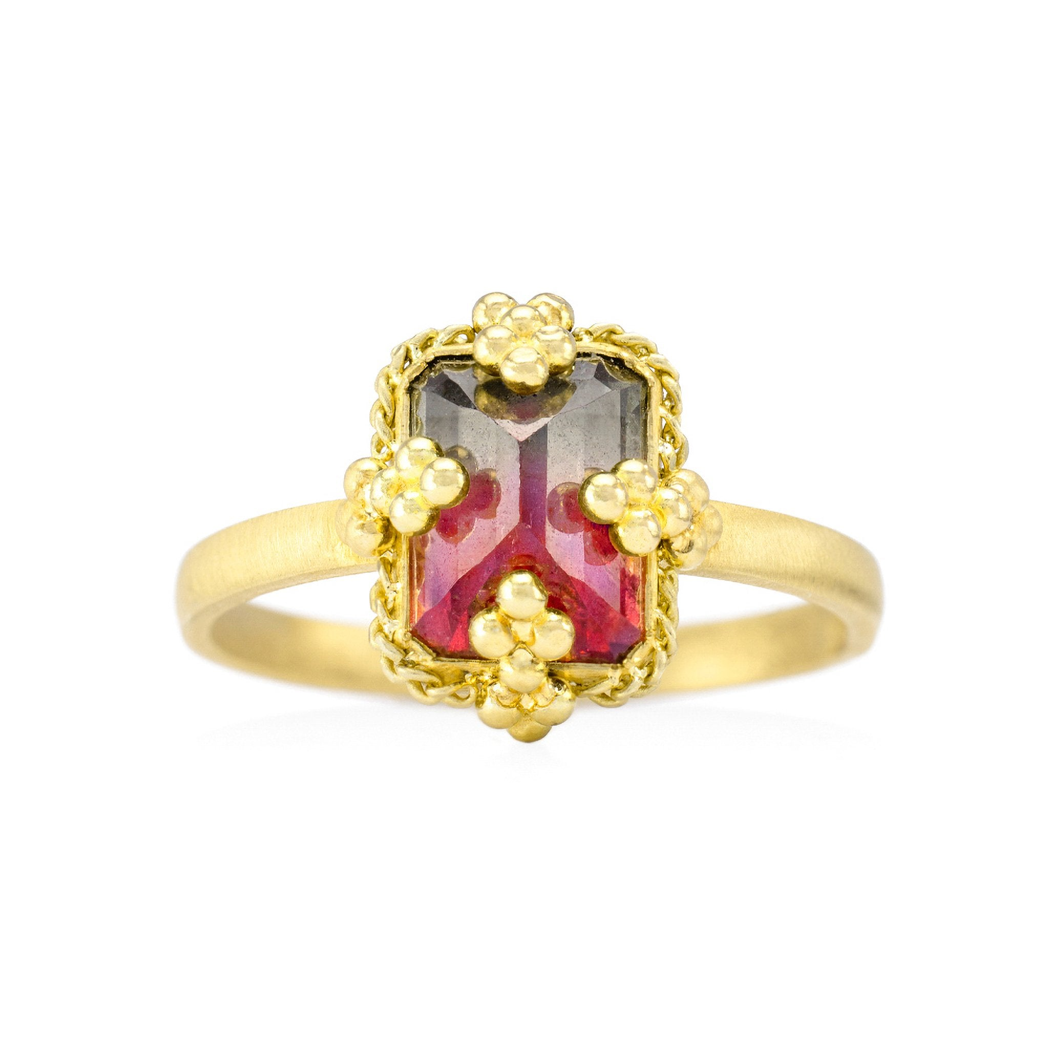 Amali-Watermelon Tourmaline Ring