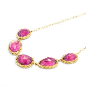 Amali Tourmaline Pebble Necklace