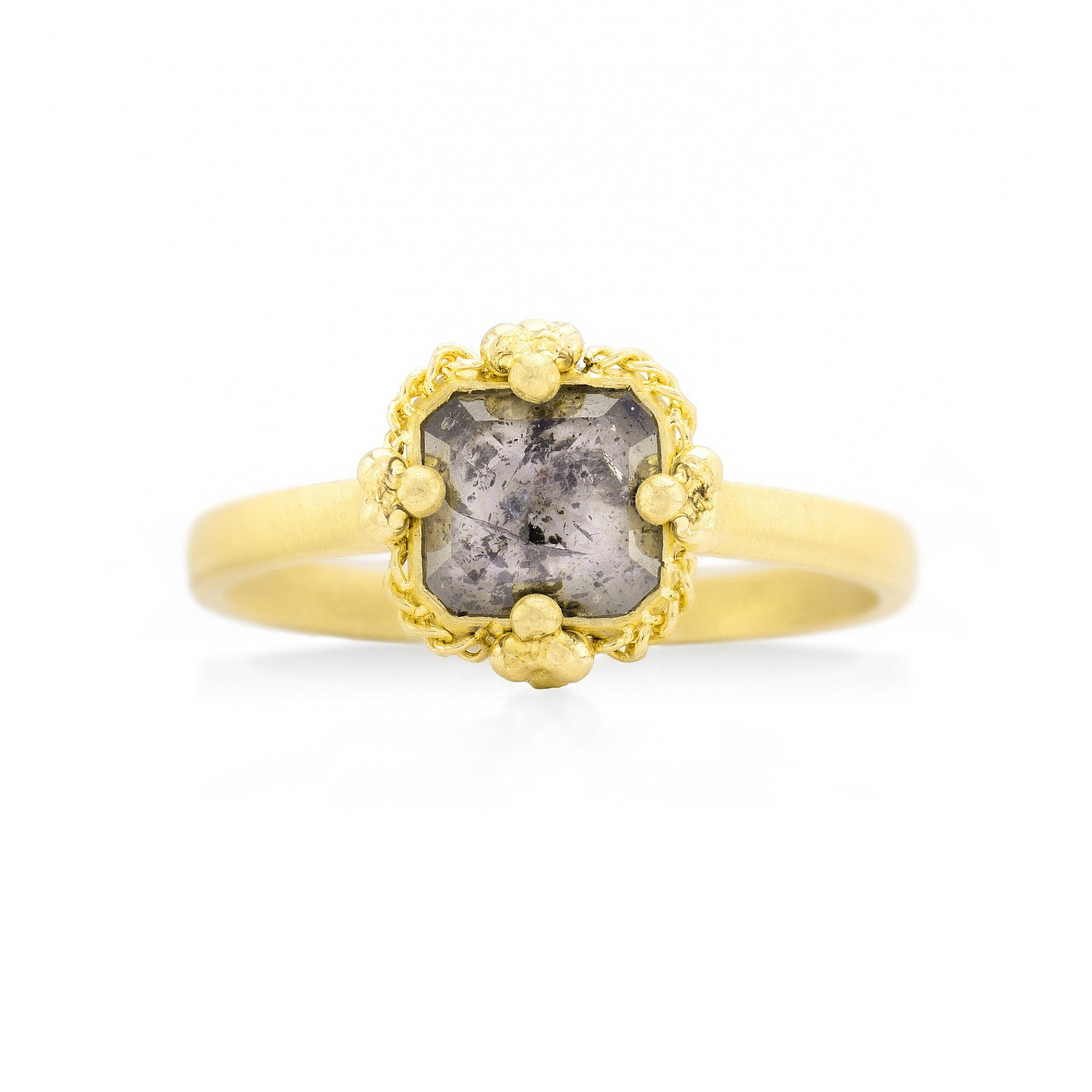 Amali-Salt and Pepper Diamond Ring