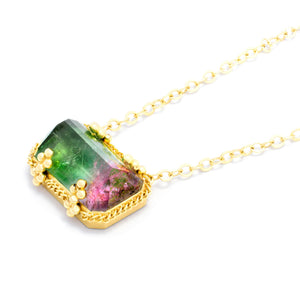 Amali Watermelon Tourmaline Necklace
