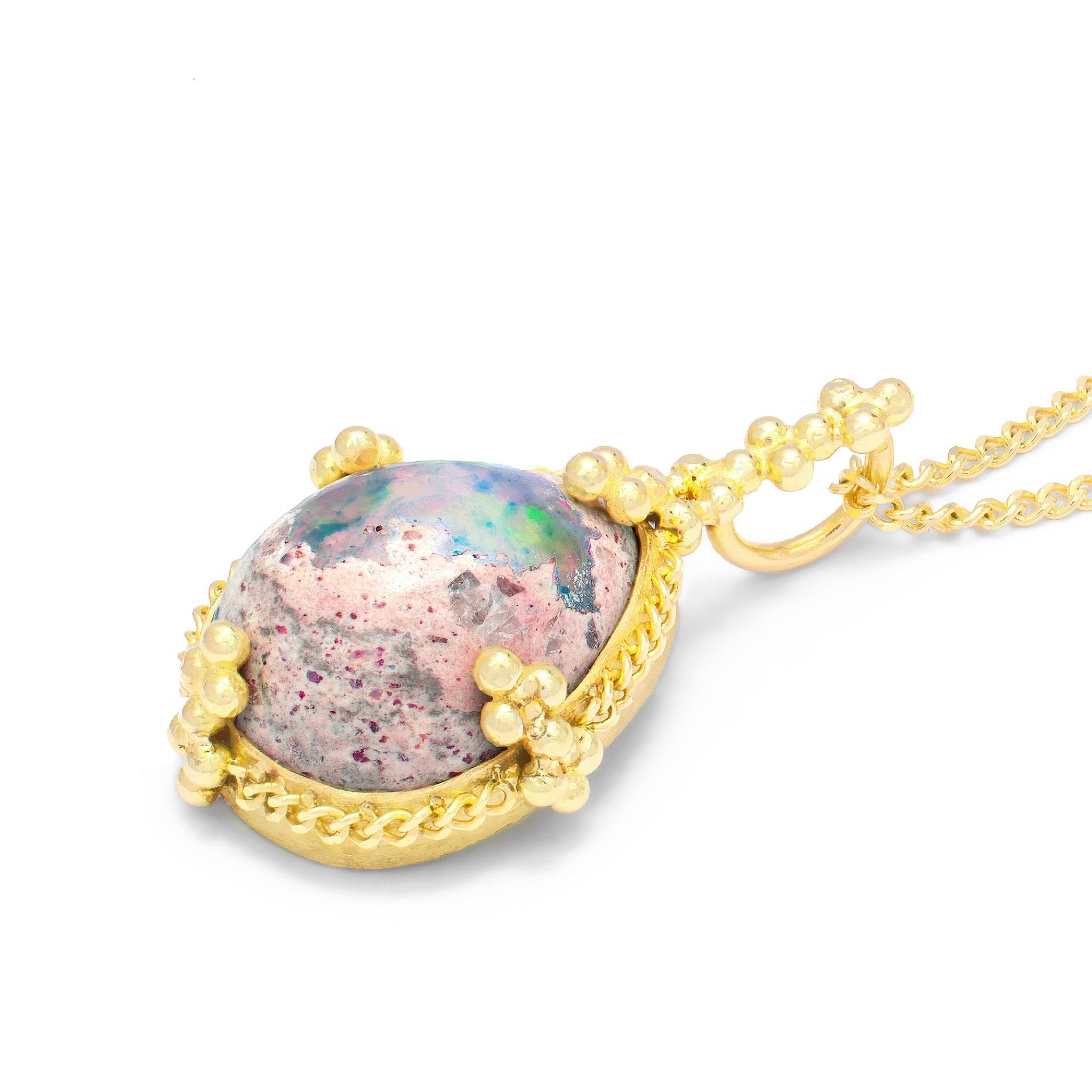 Amali-Mexican Opal Necklace