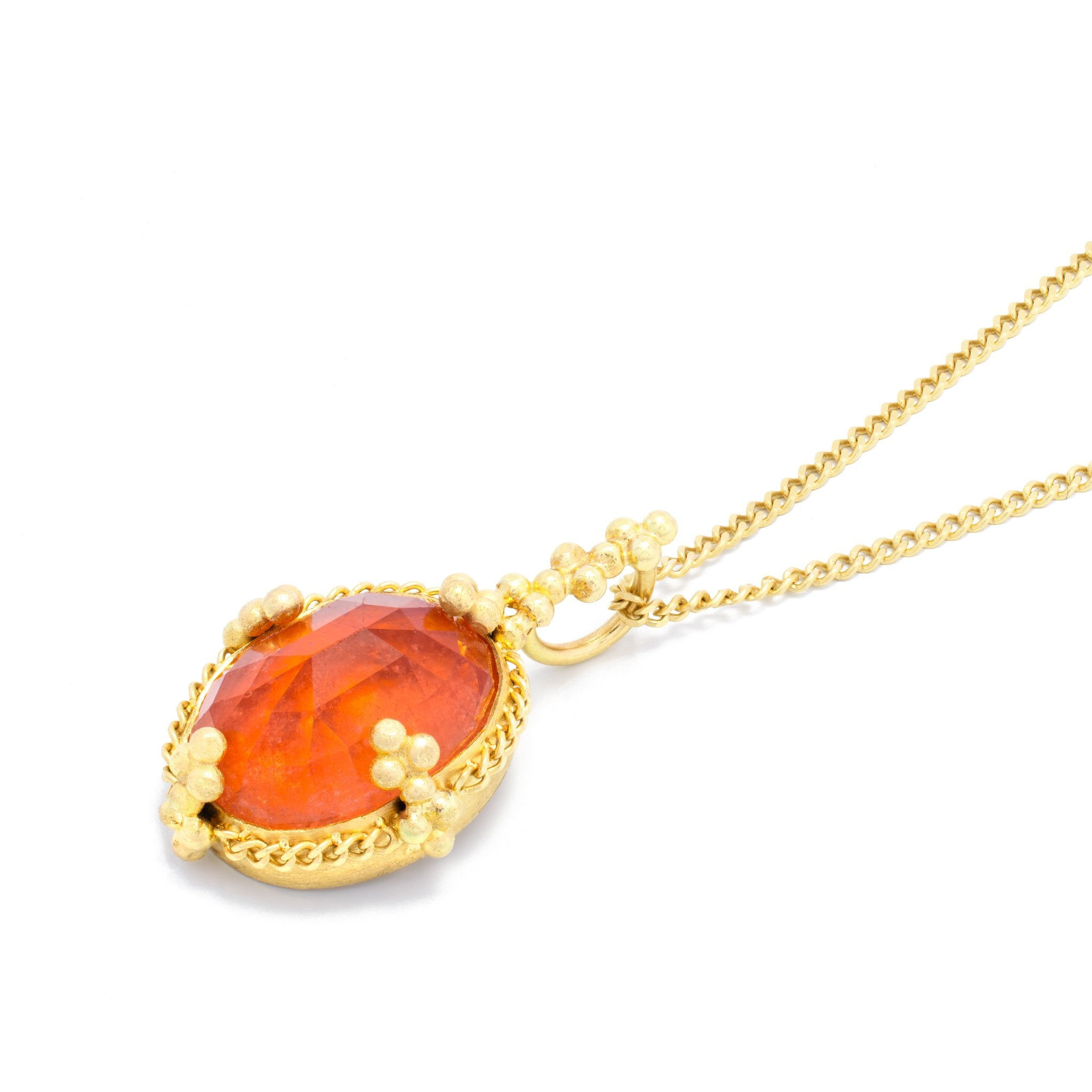 Peach Tourmaline Necklace