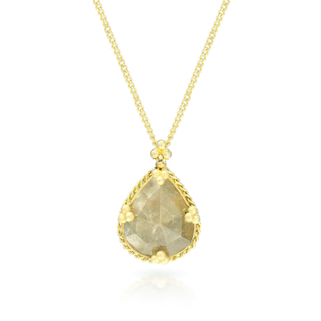 Amali-Golden Honey Diamond Necklace