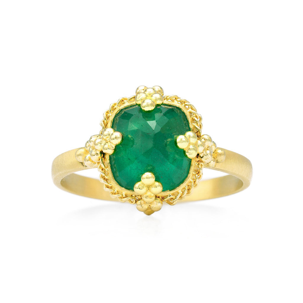 Amali-Emerald Pyramid Ring