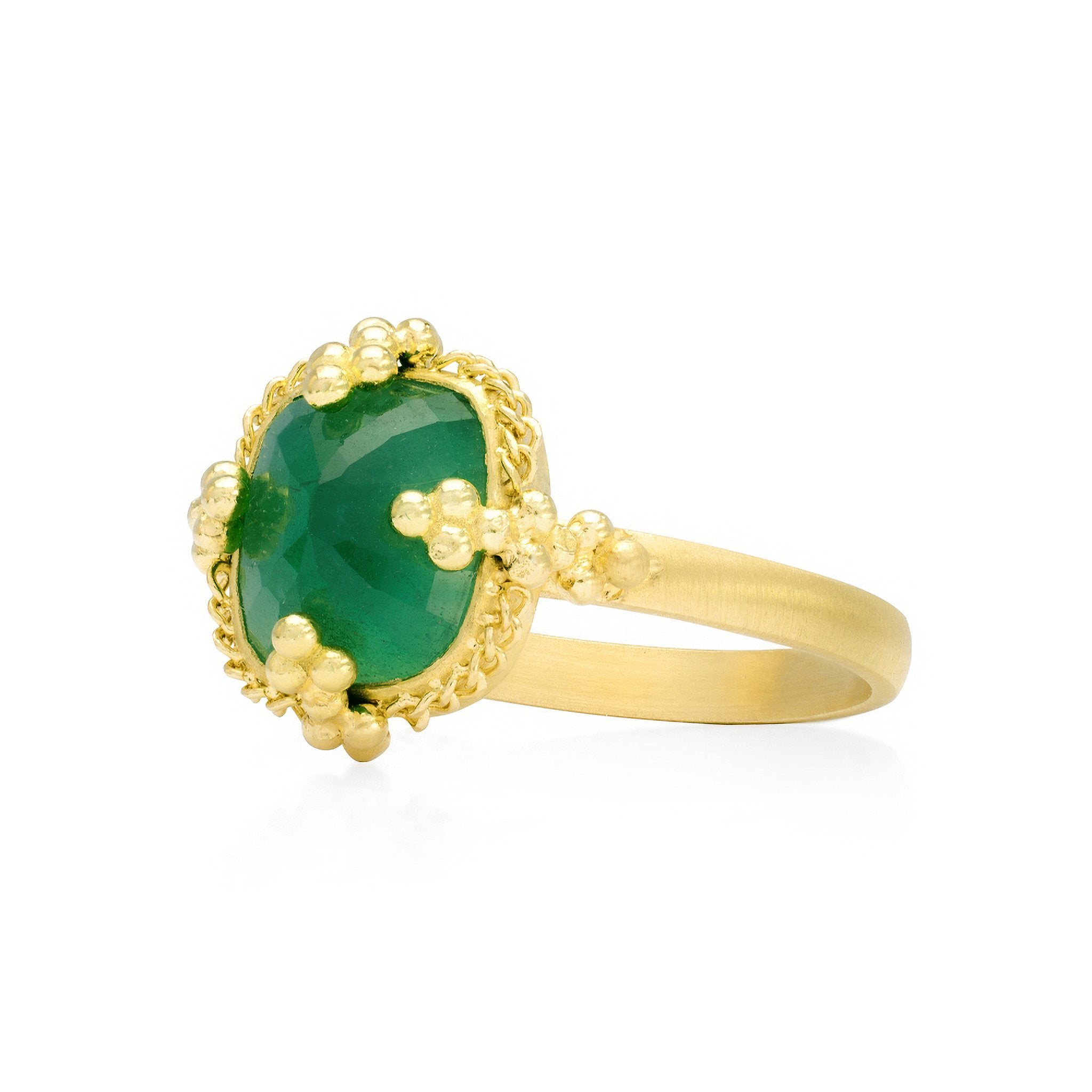 Emerald Pyramid Ring