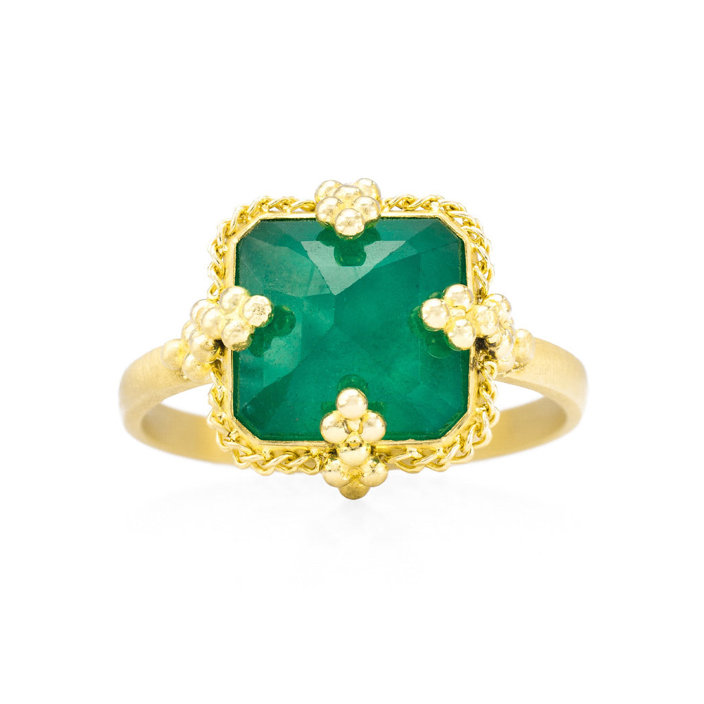 Amali-Emerald Ring