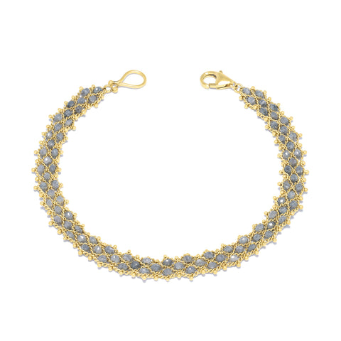 Amali-Woven Bracelet in Grey Diamond