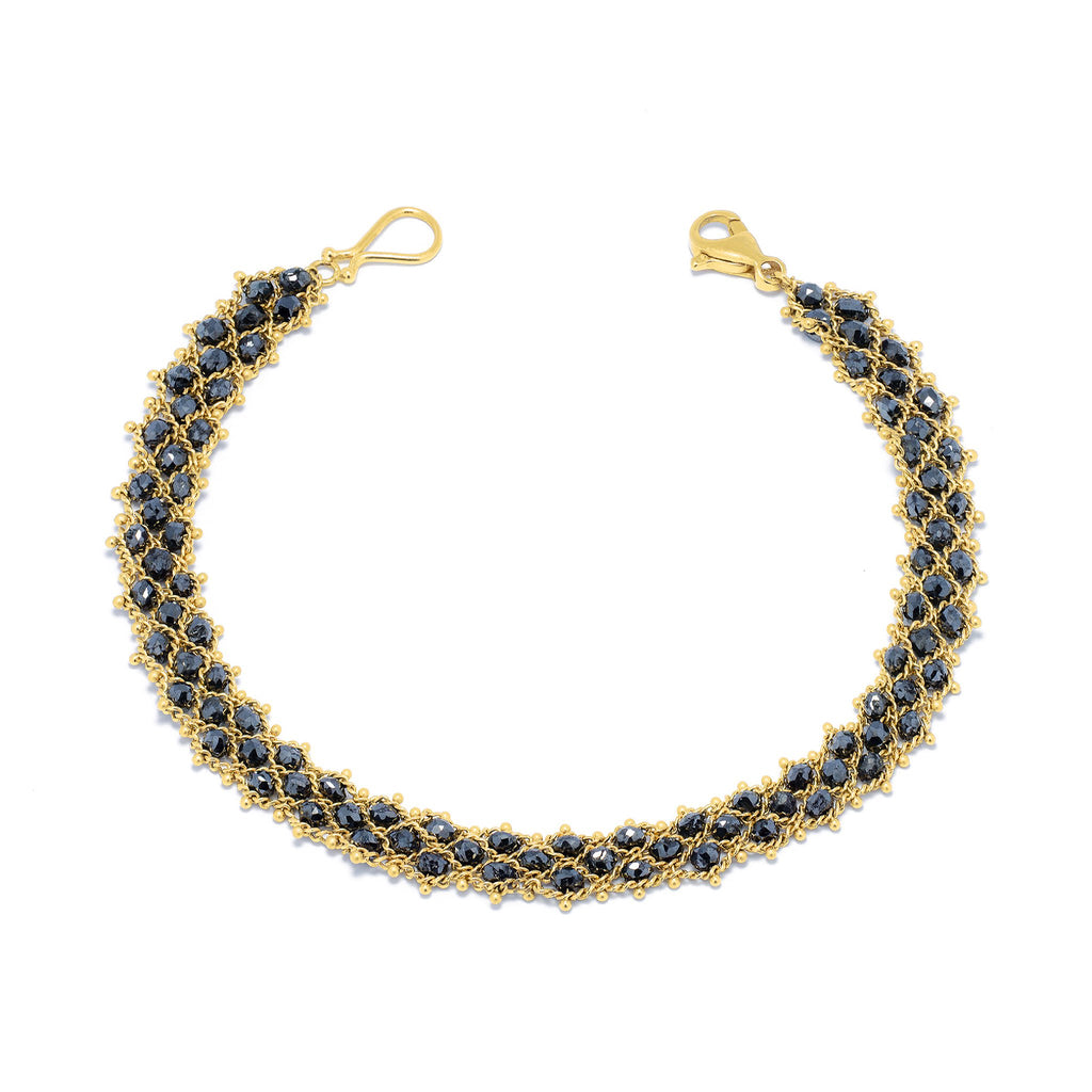 Amali-Woven Bracelet in Black Diamond