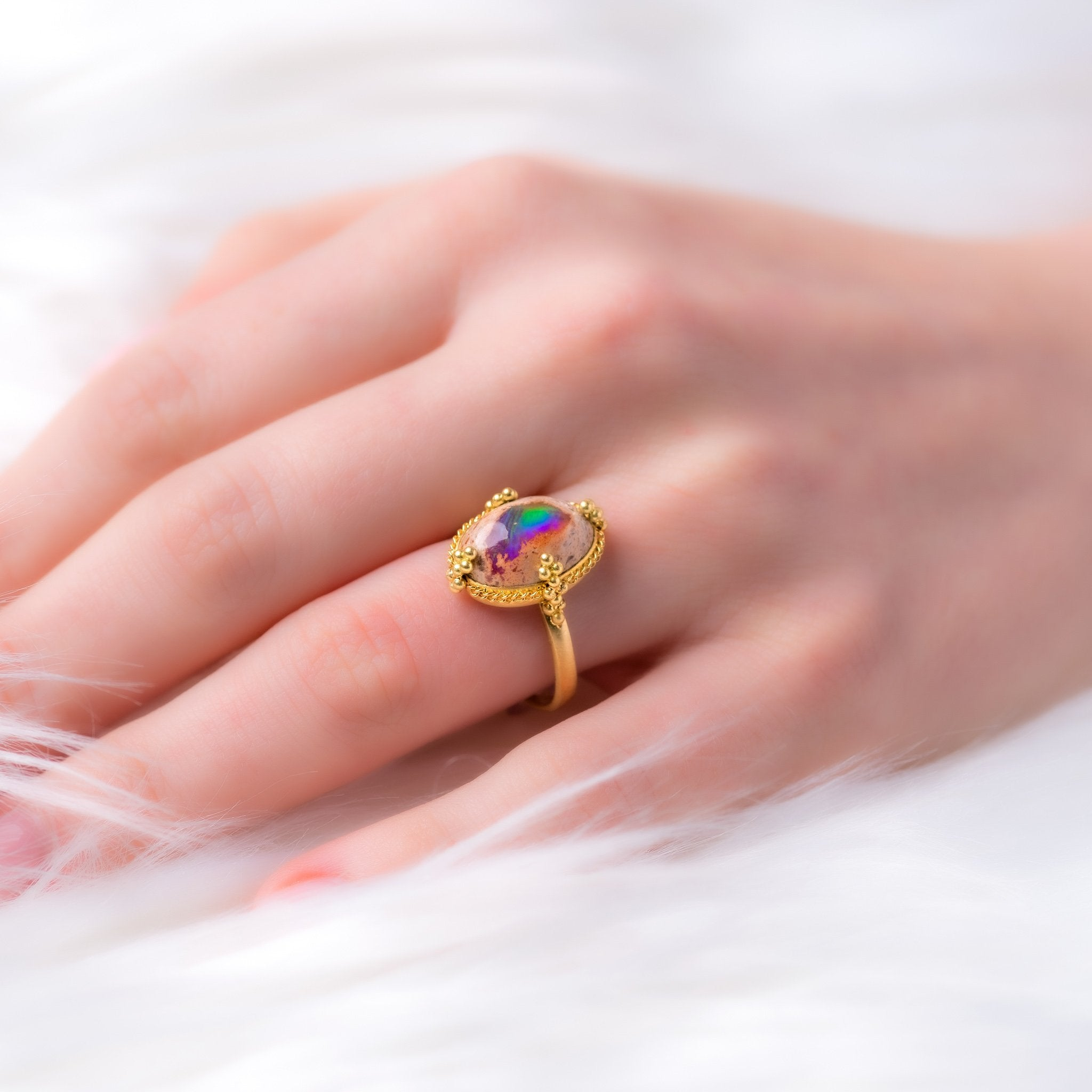 Amali-Mexican Opal Ring