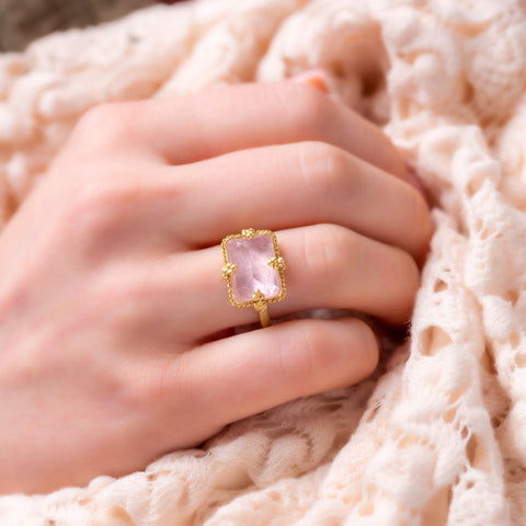 Amali-Morganite Landscape Ring