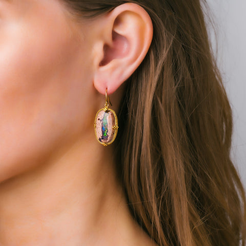 Amali-Mexican Opal Earrings