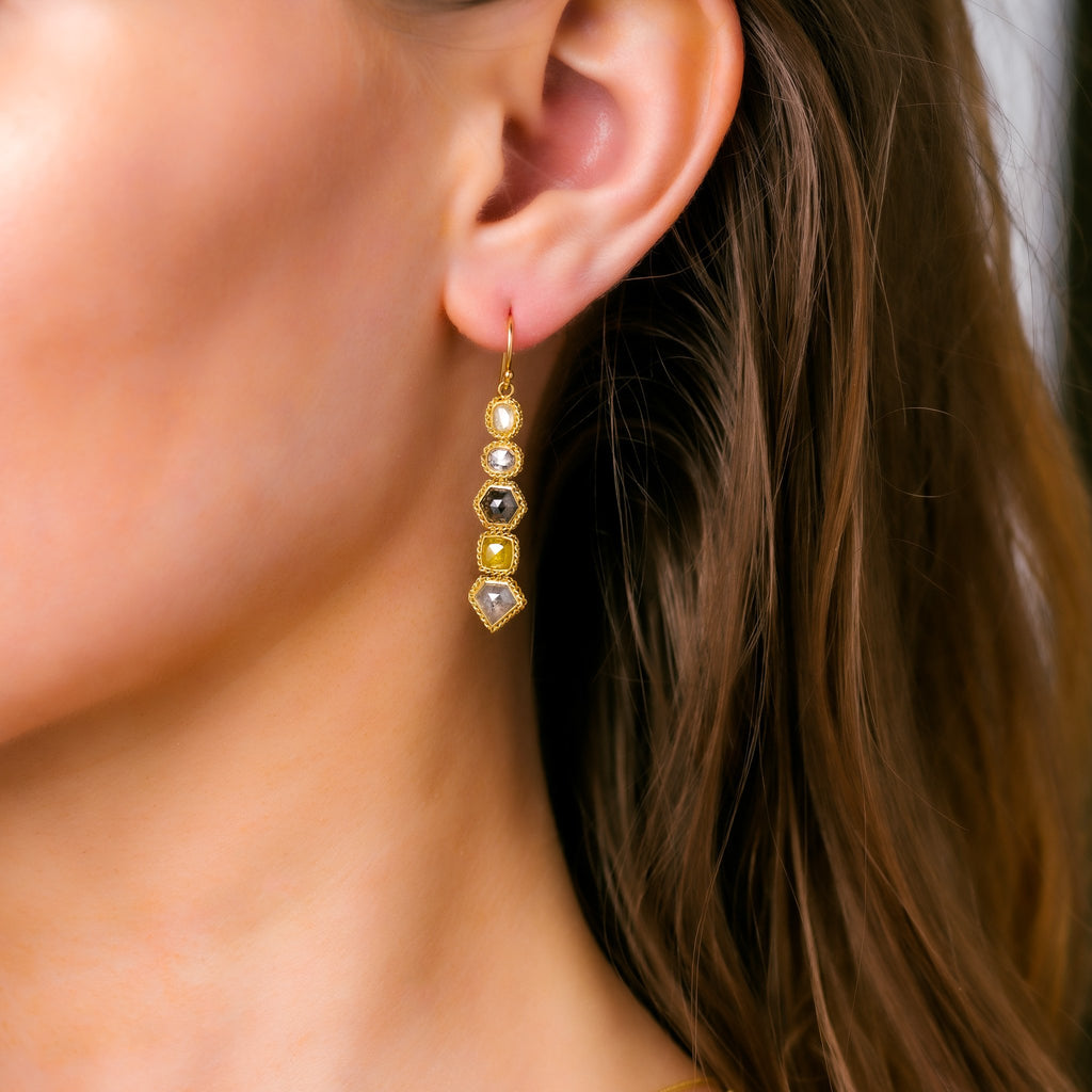 Amali-Diamond Stick Earrings