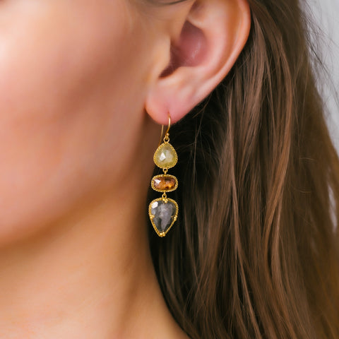 Amali-Autumn Diamond Earrings