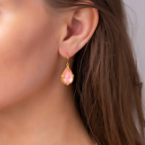 Morganite Teardrop Earrings