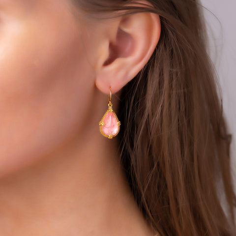 Amali-Morganite Teardrop Earrings