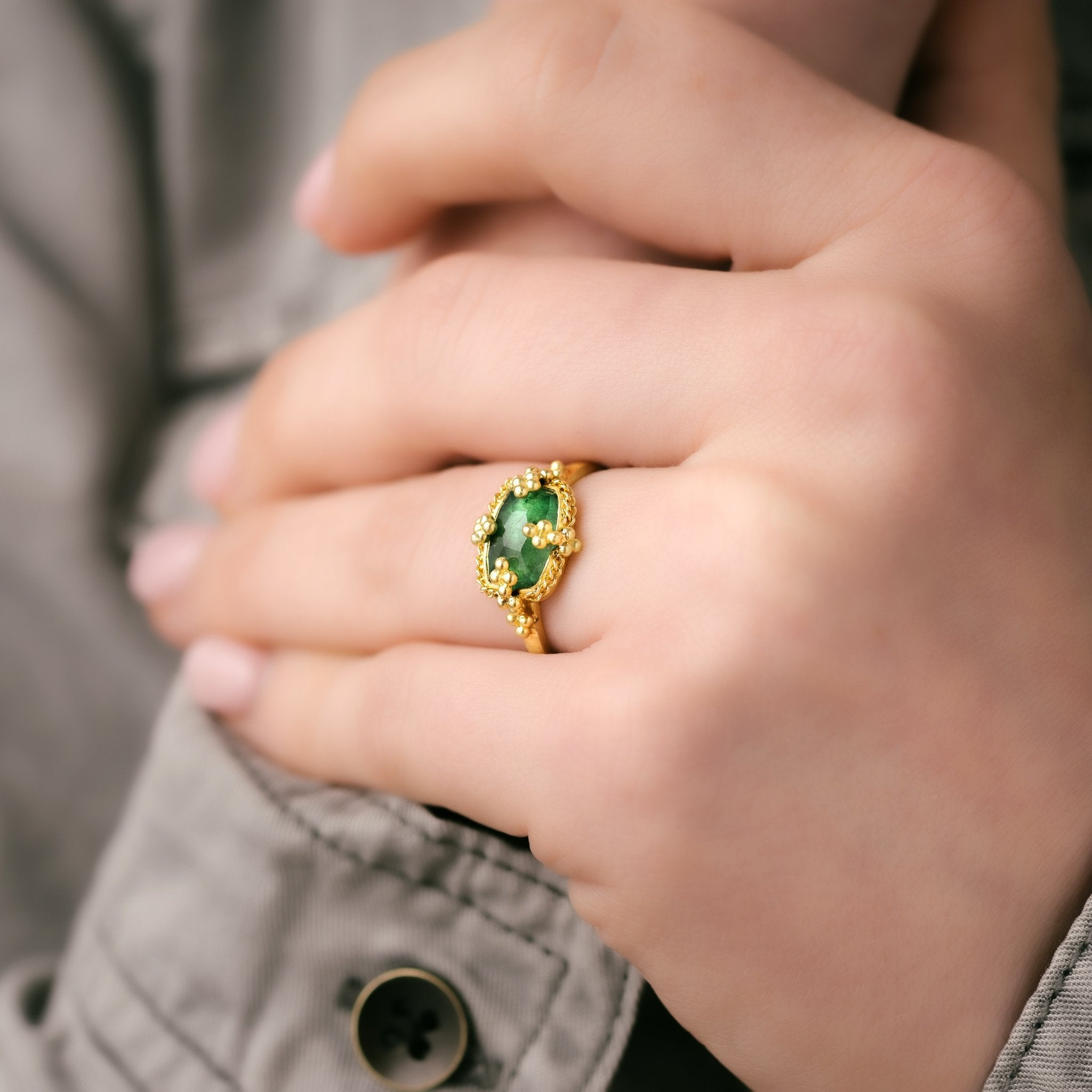 Emerald Landscape Ring