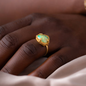 Amali Triangular Ethiopian Opal Ring