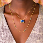 Load image into Gallery viewer, Tanzanite Landscape Necklace