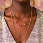 Load image into Gallery viewer, Amali Tourmaline Pebble Necklace