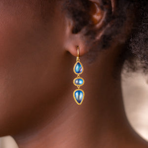 Amali-Moonstone Pebble Earrings