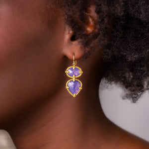 Amali-Tanzanite Double Drop Earrings