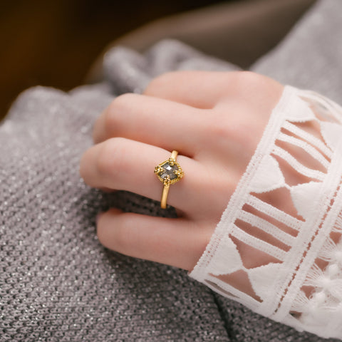 Amali-Rustic Diamond Ring