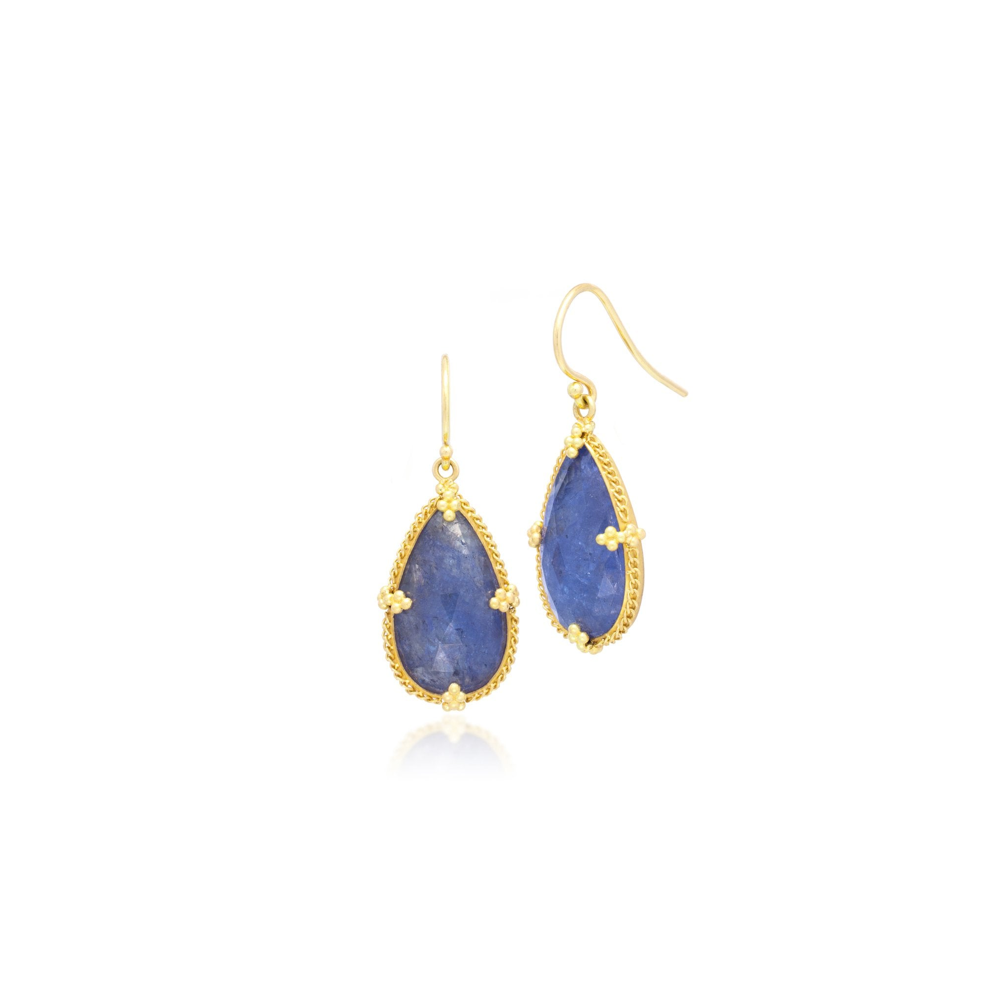 Amali-Tanzanite Teardrop Earrings