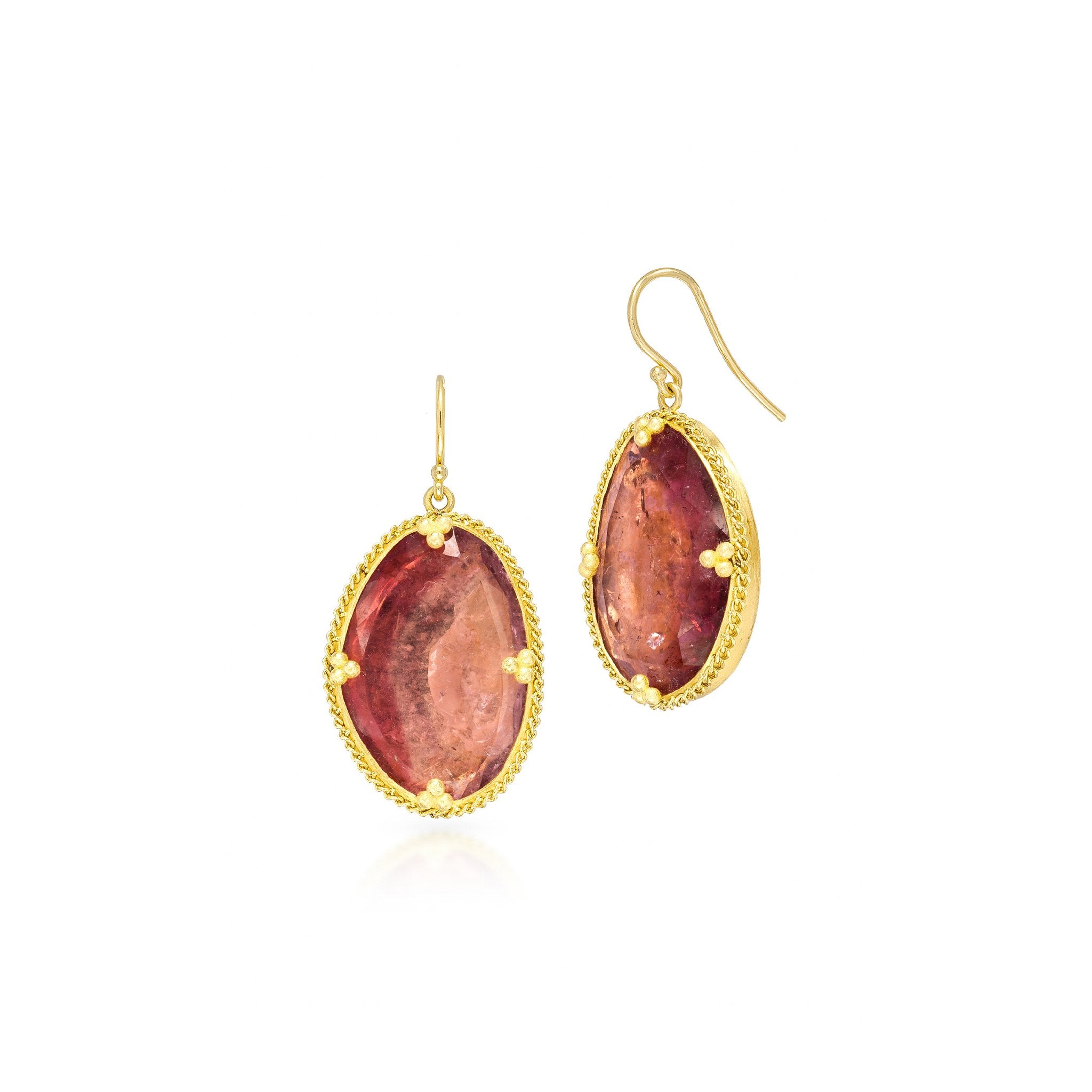 Amali-Pink Tourmaline Earrings