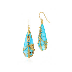Amali-Draped Turquoise with Champagne Diamonds