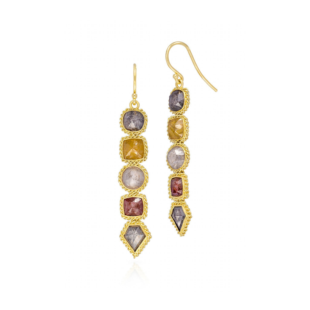 Amali-Autumn Diamond Stick Earrings