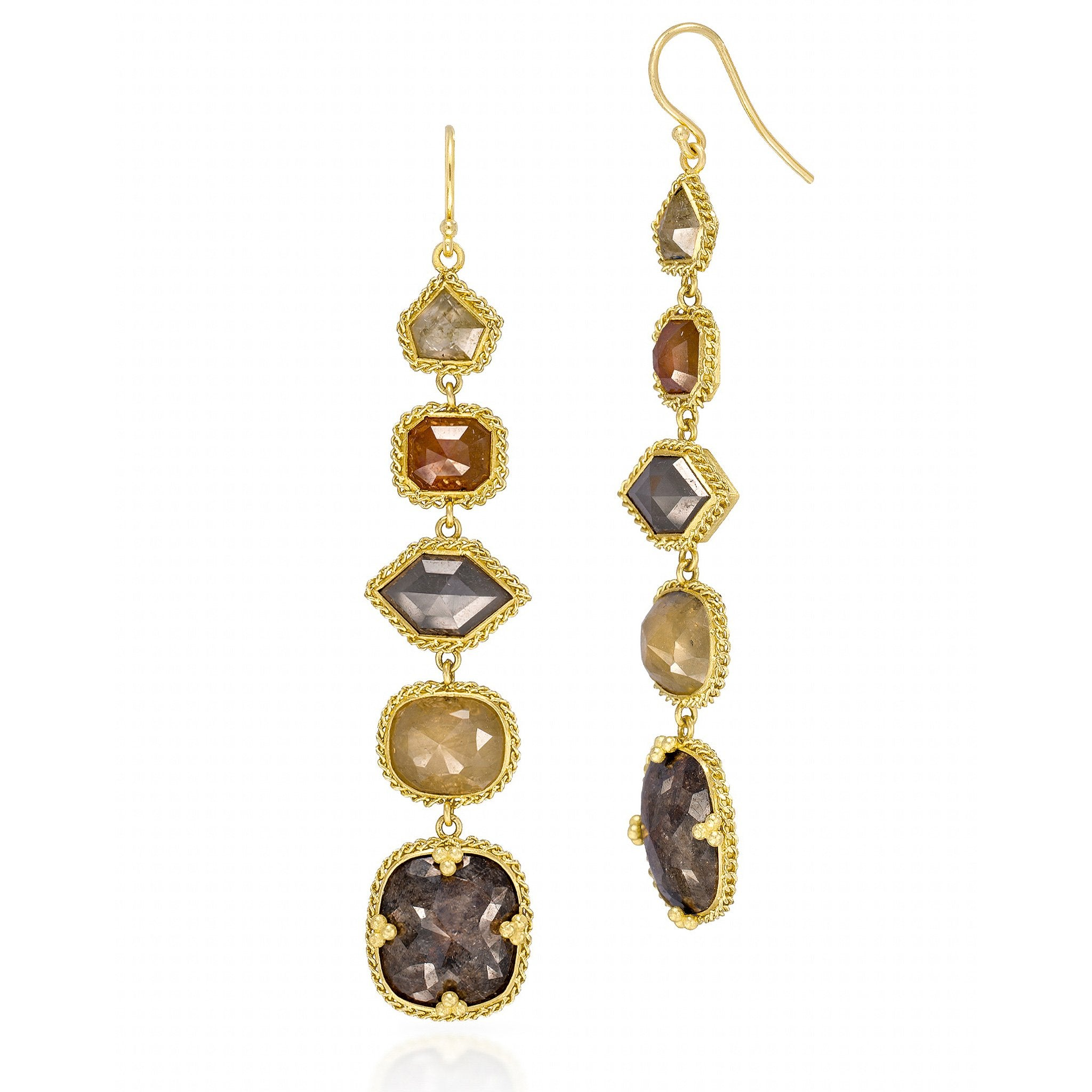 Amali-Rainbow Diamond Earrings
