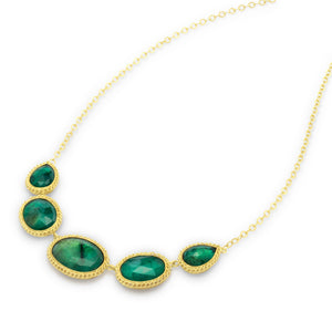 Amali-Emerald Pebble Necklace