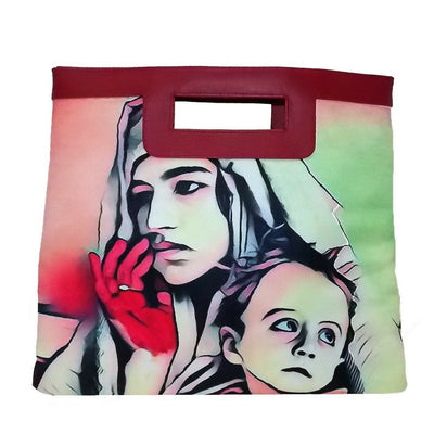 "Handbag ""Square"" - woman and child"