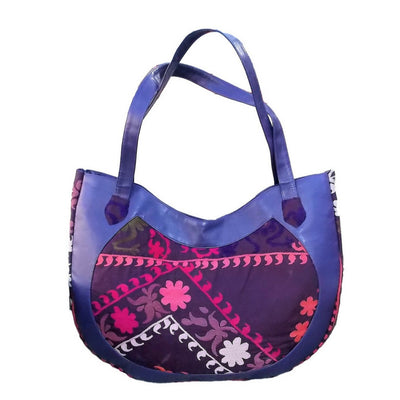 "Shoulder Bag ""Purple Flowers"""