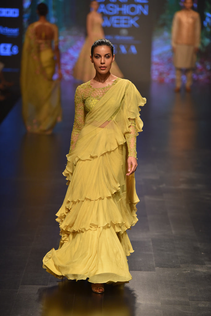 Designer Sarees That Are Highly Spotted At Lakme Fashion Week 2019 Panache Haute Couture