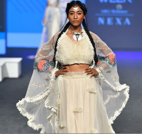 Fashionable Outfits By Neha Agarwal At Lakme Fashion Week 2019 Panache Haute Couture