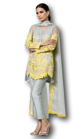 c205be4a58 Designer Pakistani suits are one of the most appealing attires that are  gaining attention of stylish women all over the world. The reason behind  the high ...