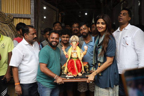 Shilpa Shetty At Ganesh Chaturthi 2019