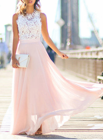 maxi dress with white top