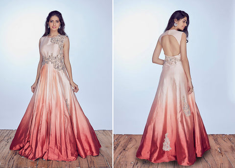 Malini Pleated Gown