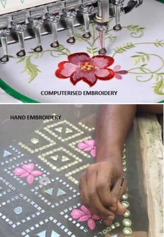 Computerized Embroidery and Handmade Embroidery