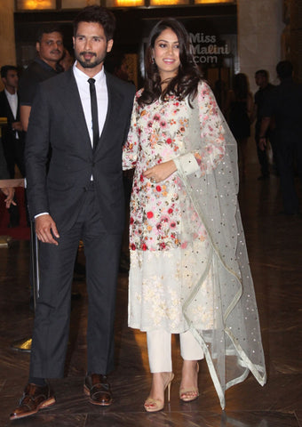 Mira Kapoor in a Varun Bahl's Costume at Preity Zinta's Reception