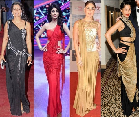 party wear saree gowns