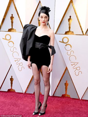 St. Vincent in Black Playsuit type Dress
