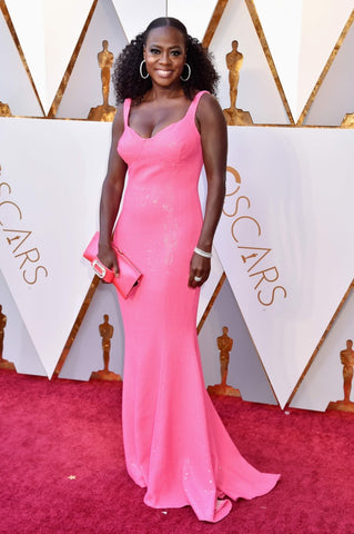 Viola Davis in Hot Pink Dress